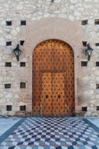 Gate to Iglesia de la compania de Jesus church in Cordoba, Argentina.