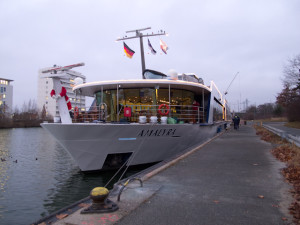 The AmaLyra docked in Nuremberg, Germany in December 2011. Photo © 2011 Aaron Saunders
