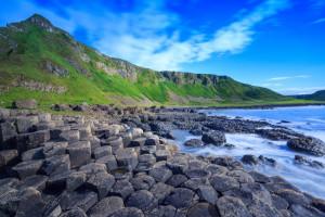 Giant's Causeway, the nature hexagon stones in Northern Ireland.