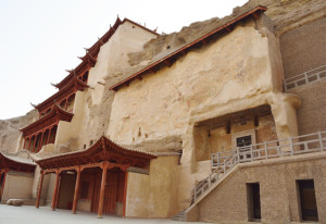 Dunhuang, Gansu,  Mogao Grottoes cave, This is the caves of the Thousand Buddhas, form a system of 492 temples in Dunhuang, China.