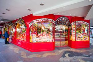 Chocolate store Mamuschka in Bariloche, Patagonia region in Argentina.