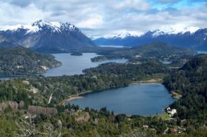 View on the Lake Nahuel Huapi near Bariloche, Argentina