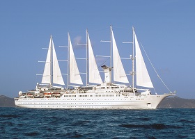 Wind Surf, the world's largest sailing yacht; Windstar Cruises