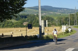 That's me doing what I love best – cycling along the Rhone river.