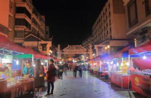 Xicheng shopping street night market.
