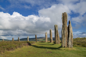 A portion of the Orkney neolithic site, the Ring of Brodgar
