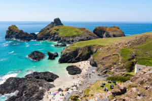 Beautiful clear day at Kynance Cove Cornwall England