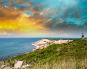 Coastal Lighthouse Sunset, Martha's Vineyard, MA