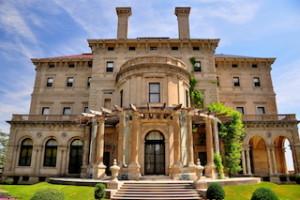 The Breakers (1895), designed by Richard Morris Hunt for Cornelius Vanderbilt II as the family summer home, is built in Italian Renaissance style