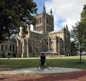Outside view of Hereford Cathedral